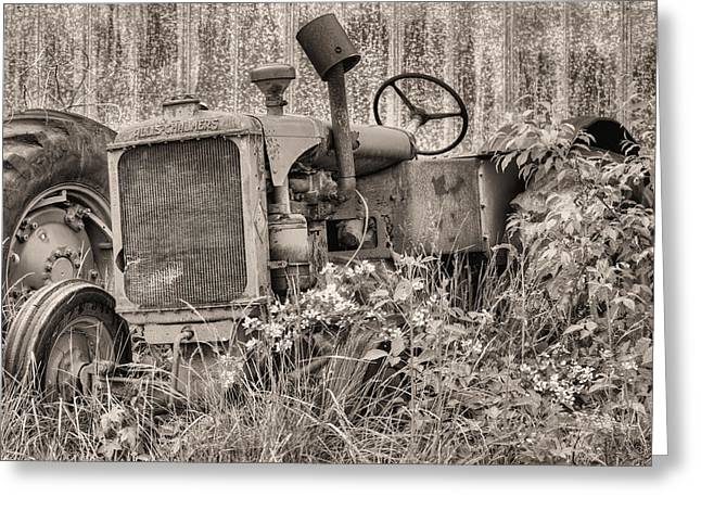 The Allis Chalmers Bw Greeting Card