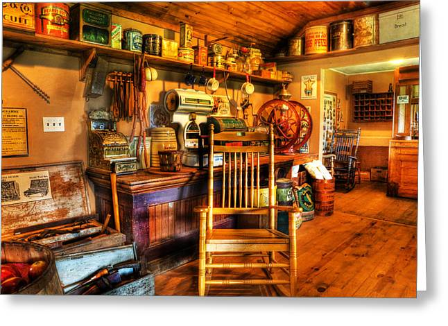 The American General Store -  - Vintage - Nostalgia Greeting Card by Lee Dos Santos