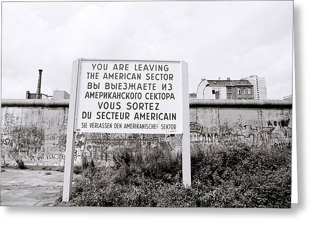 Berlin Wall American Sector Greeting Card