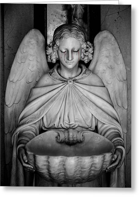 The Angels Burden Greeting Card by Anthony Citro