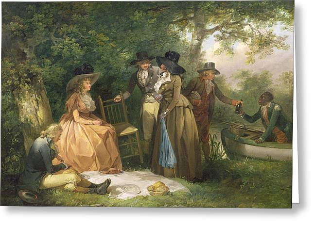 The Angler's Repast  Greeting Card by George Morland