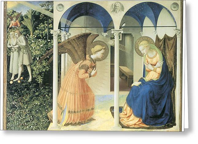 The Annunciation Greeting Card by Fra Angelico