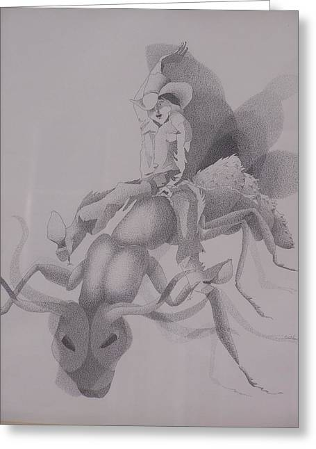 The Ant Buster Greeting Card by Gretchen Price