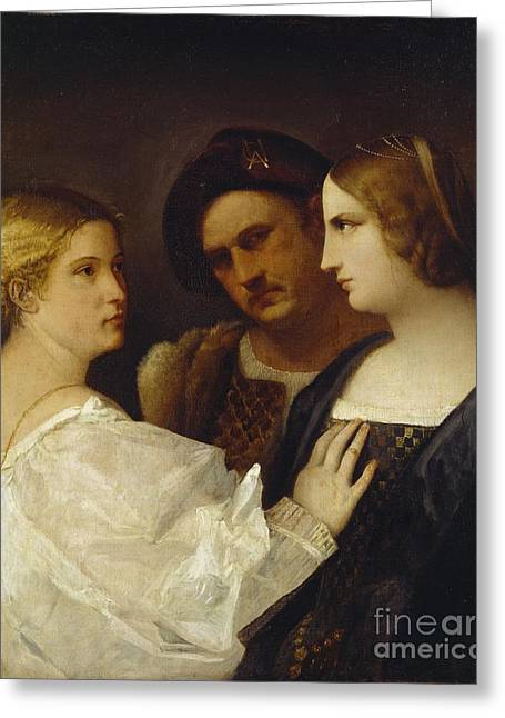 The Appeal  Greeting Card by Tiziano Vecellio Titian