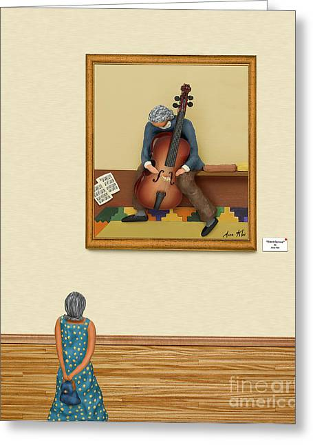 The Art Critic 2 Greeting Card by Anne Klar