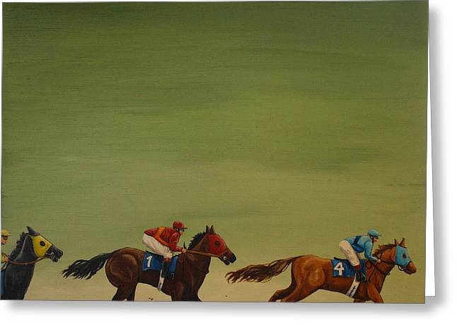 The Art Of Racing Greeting Card by Jennifer Lynch