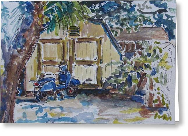 The Artist's Shed Greeting Card by Kellie Straw