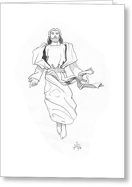 The Ascention Greeting Card by Miguel De Angel