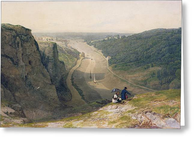 The Avon Gorge - Looking Over Clifton Greeting Card by Francis Danby