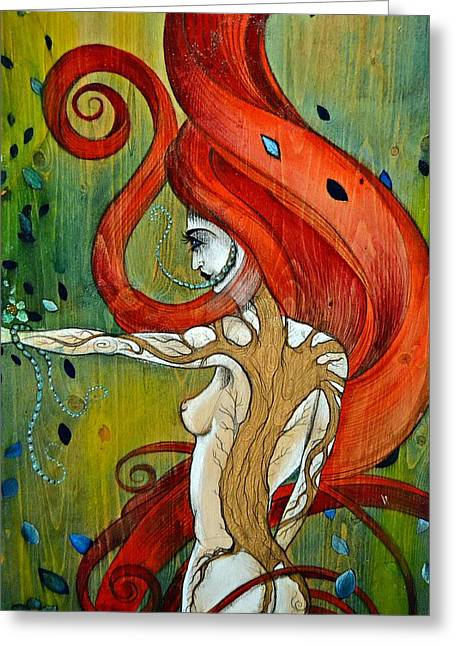 Greeting Card featuring the painting The Awakening by Sandro Ramani