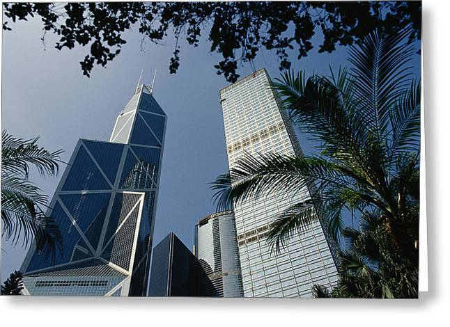 The Bank Of China Building Greeting Card