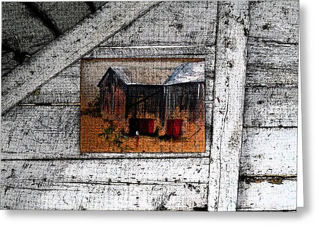 The Barn Art Greeting Card by Cyryn Fyrcyd