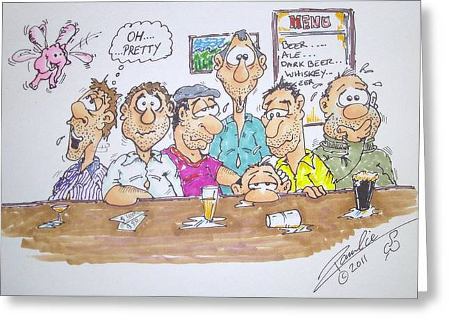 The Bartenders View Greeting Card by Paul Chestnutt