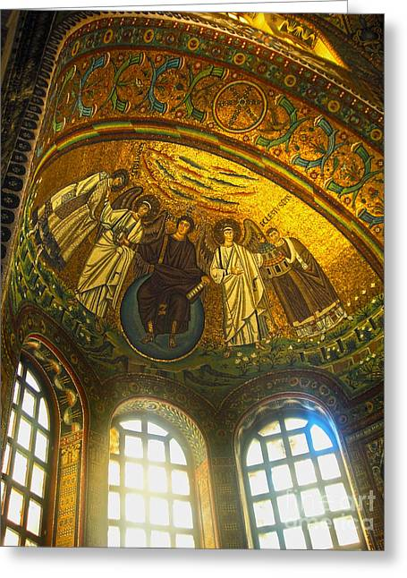 The Basilica Di San Vitale In Ravenna - 02 Greeting Card by Gregory Dyer