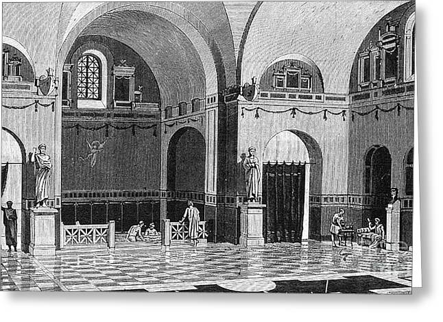 The Baths Of The Emperor Julian Greeting Card