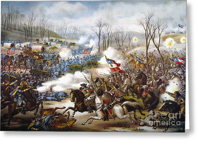 The Battle Of Pea Ridge, Greeting Card by Granger