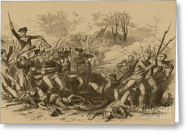 The Battle Of The Cowpens Greeting Card by Photo Researchers