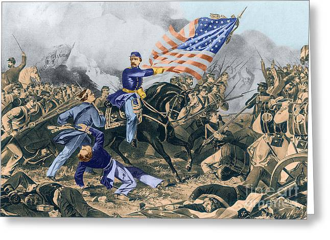 The Battle Of Williamsburg, 1862 Greeting Card by Photo Researchers