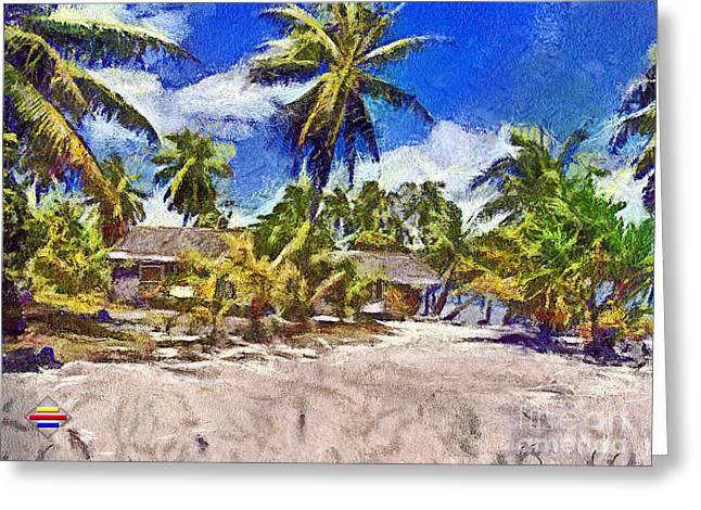 The Beach 02 Greeting Card by Vidka Art