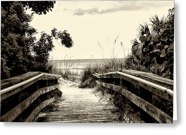 The Beach Path - Clearwater Beach Greeting Card by Bill Cannon