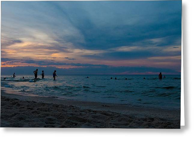 The Beach Greeting Card by Tim Nichols