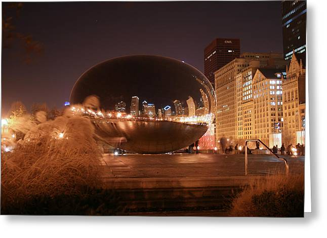 The Bean On A Winter Night Greeting Card