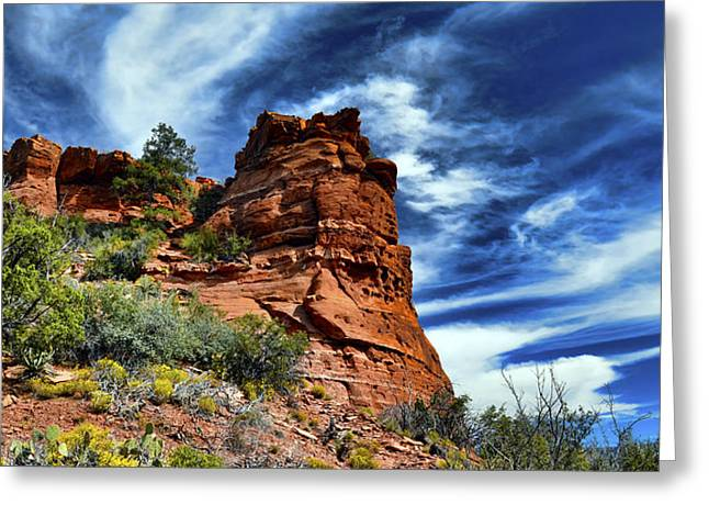 The Beast On Thunder Mountain Trail Greeting Card