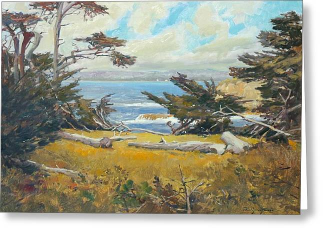 Point Lobos Cameo Greeting Card by Paul Youngman
