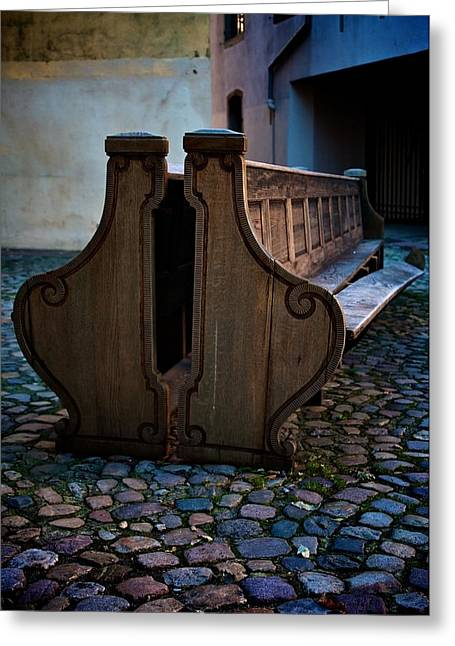 The Bench Greeting Card by Noze P