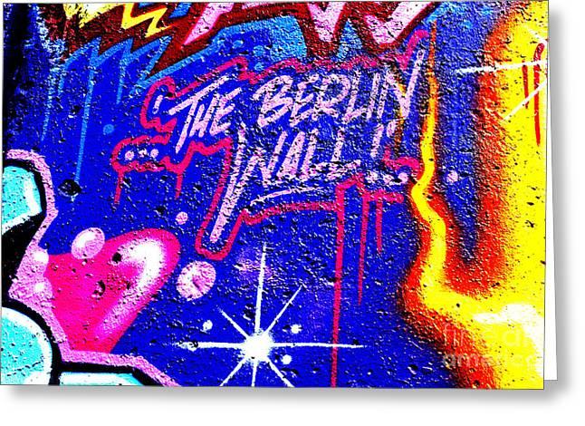 The Berlin Wall 3 Greeting Card by Mark Azavedo