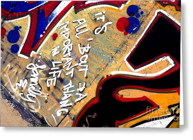 The Berlin Wall 4 Greeting Card by Mark Azavedo