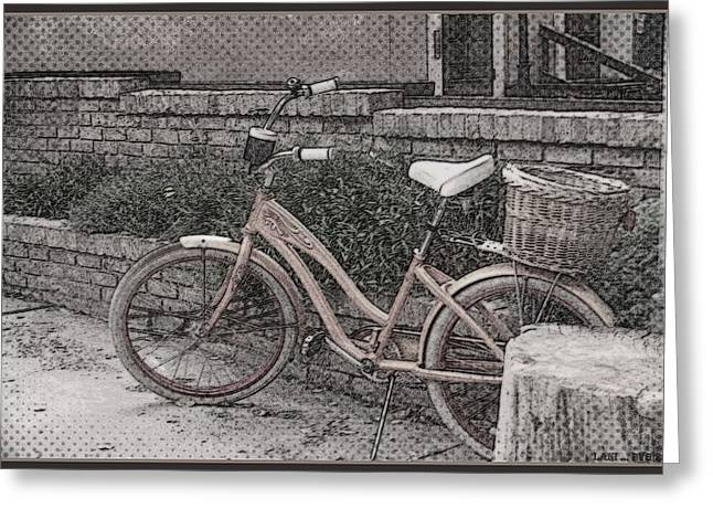 the Bicycle is waiting Greeting Card