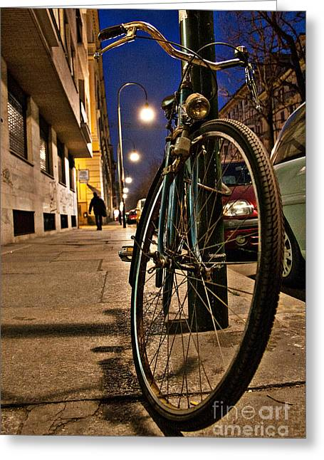 The Bicycle Greeting Card by Sonny Marcyan