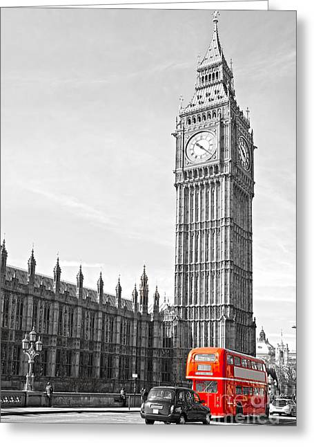 Greeting Card featuring the photograph The Big Ben - London by Luciano Mortula