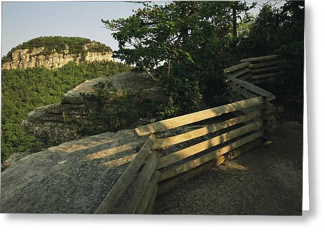 The Big Pinnacle Of Pilot Mountain. The Greeting Card by Raymond Gehman