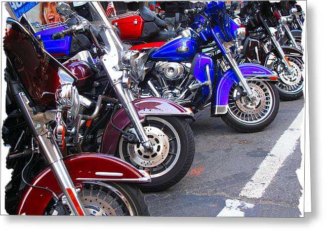 The Bikers Greeting Card by Anthony Chia-bradley