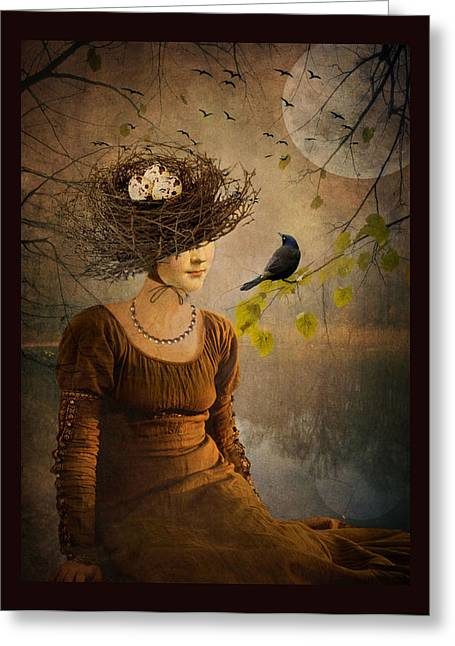 The Bird Watcher Greeting Card by Marie  Gale