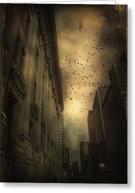 The Birds Greeting Card by Peter Labrosse