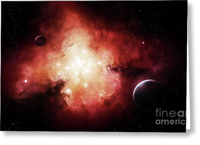 The Birth Of Numerous Stars Exposing Greeting Card by Brian Christensen