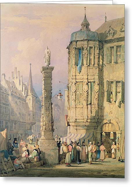 The Bishop's Palace Wurzburg Greeting Card by Samuel Prout