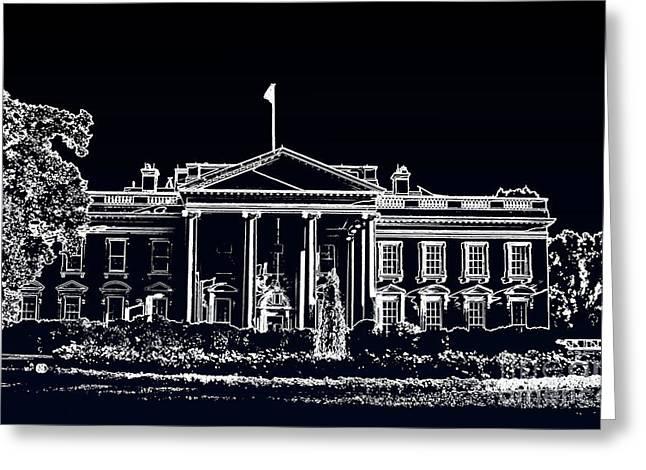 The Black House Greeting Card by Joe Finney