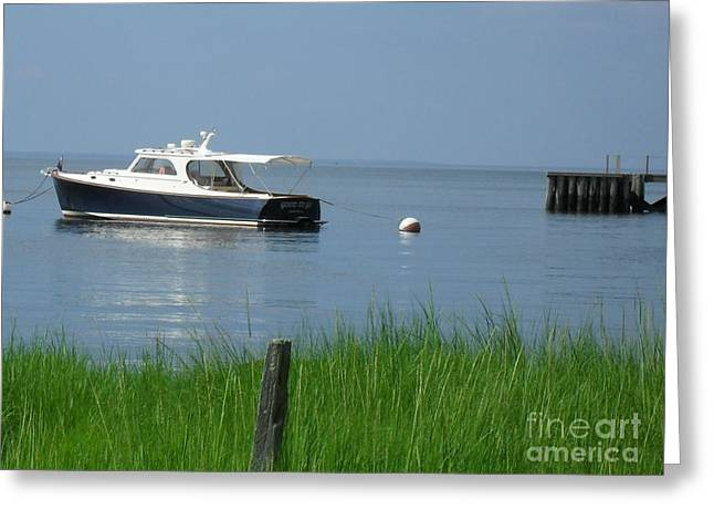 Greeting Card featuring the photograph The Boat by Beth Saffer