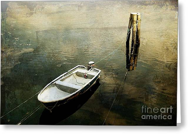 The Boat In Winter Greeting Card