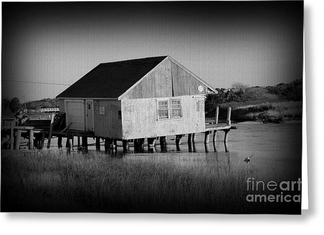 The Boathouse With Texture Greeting Card
