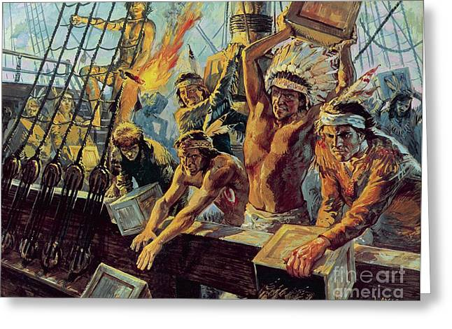 The Boston Tea Party Greeting Card