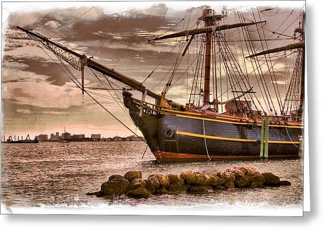 The Bow Of The Hms Bounty Greeting Card by Debra and Dave Vanderlaan