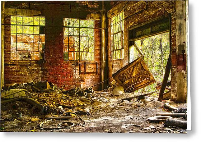 The Brick Room Greeting Card by Kimberleigh Ladd