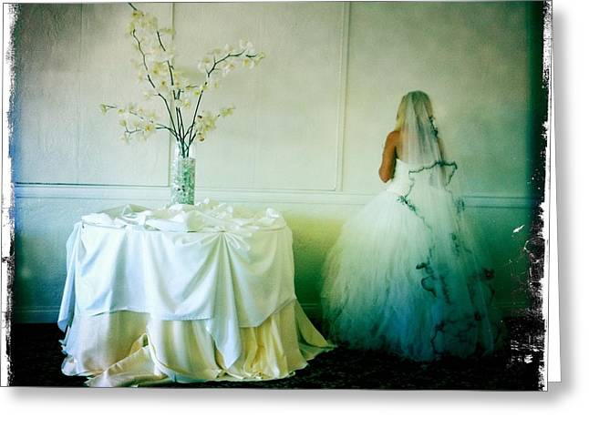 Greeting Card featuring the photograph The Bride Takes A Moment by Nina Prommer
