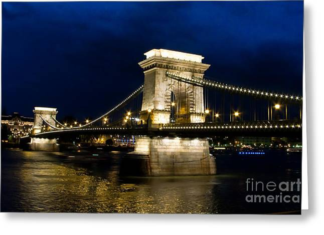 The Bridge Across Greeting Card by Syed Aqueel