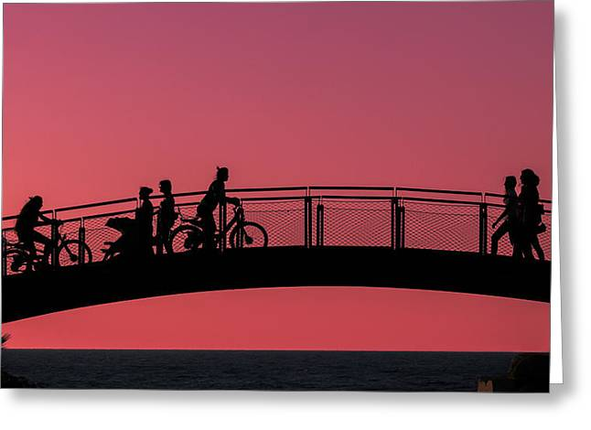 The Bridge Greeting Card by Amr Miqdadi